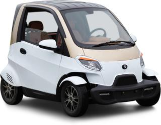 Elektrisk mopedbil - Vit