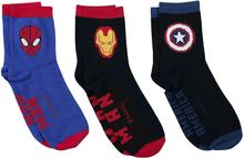 Avengers - Captain America - Iron Man - Spider-Man -Sokker - flerfarget