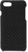 Pelle Tessuta Leather Iphone 7 Case - Black