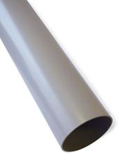 Plastmo nedløbsrør Ø75 mm i grå - 6 meter