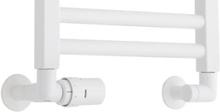 TVS ventilsæt m/Returtermostat i venstre side, Hvid