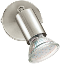 Eglo Buzz spot væg/loftlampe i satin nikkel