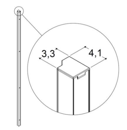 Dansani Match Vægprofil til model A,B,C, Satin
