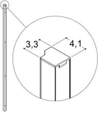 Dansani Match model A,B,C vægprofil