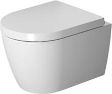 Duravit ME by Starck Rimless Compact væghængt toilet m/ WonderGliss i hvid