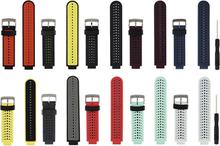 Armband för Garmin Forerunner 230 / 235 / 620 / 630 / 735XT - Silikon (Svart & Grå)
