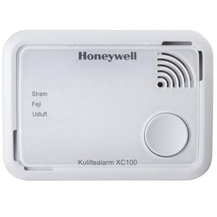Honeywell Kuliltealarm XC100, 10 års batteri, Hvid