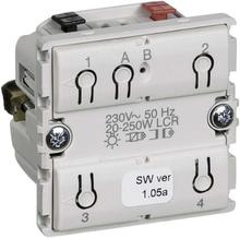 LK IHC Wireless Fuga Kombi lysdæmper, 250W, 1 modul, Uden afdækning