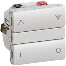 LK IHC Wireless Fuga Kombi lysdæmper, 250W, 1 modul, Lysegrå