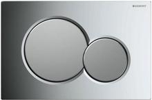 Geberit Sigma 01 betjeningsplade, blank/mat krom