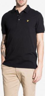 Lyle & Scott Plain Polo Shirt Piké True Black