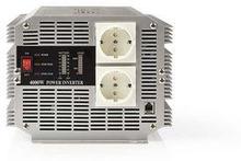 Nedis Strömväxelriktare, modifierad sinusvåg   24 V DC - 230 V AC   4 000 W   2x Schuko-uttag   fjärrkontroll