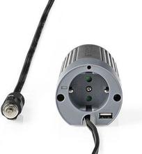 Nedis Strömväxelriktare, modifierad sinusvåg   12 V DC - 230 V AC   100 W   1x Schuko-uttag/1 USB-port