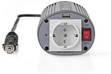 Nedis Strömväxelriktare, modifierad sinusvåg   24 V DC - 230 V AC   150 W   1x Schuko-uttag/1 USB-port
