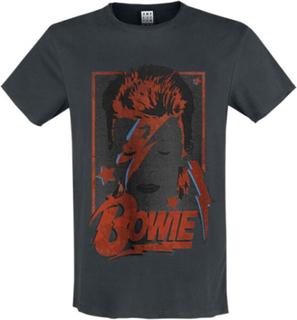 David Bowie - Amplified Collection - Aladdin Sane -T-skjorte - koksgrå