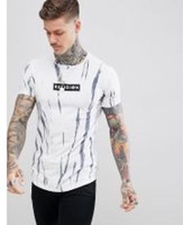 Religion Batikfärgad T-shirt med ränder - True navy