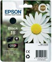 Epson bläckpatron 18 svart C13T18014010