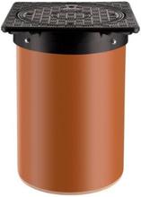 Karm m/skørt & dæksel til 315 mm opføringsrør, 1,5 ton - Plast