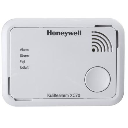 Honeywell Kuliltealarm XC70, 7 års batteri, Hvid