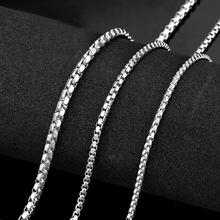 Halskedja i rostfritt stål 2,5mm, 3mm respektive 4mm -längd 50 cm