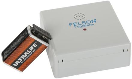 Felson Fugtalarm, 9V Lithium batteri
