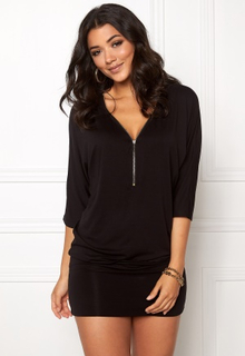 Happy Holly Perla cuff tunic Black 52/54