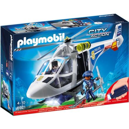 6921, Politi-helikopter m. LED-strålekaster - Lekmer