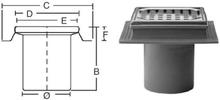Purus komplet Afløbsskål t/Beton og klinkegulve 110 mm.