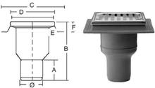 Purus komplet Afløbsskål t/Beton og Klinkegulve 75 mm.