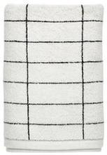 Handduk Tile, 38x60 cm, svart/vit