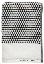 Handduk Grid, 38x60 svart/vit