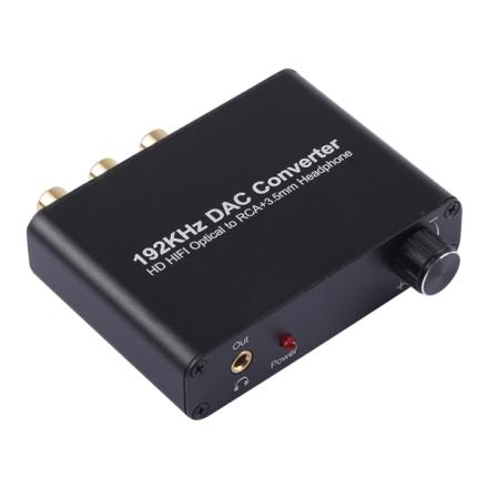 DAC Muunnin - Optinen - RCA+3,5mm 192KHz