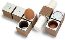 Eicube äggkoppar, 4 pack (Vit)