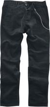 Shine Original - Loose Fit Cropped Corduroy Pants -Jeans - svart