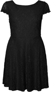 VERO MODA Short Lace Dress Women Black
