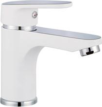 SCHÜTTE blandingsbatteri til håndvask ALASKA hvid og krom