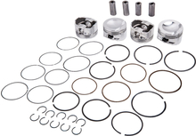 4x Pistons and Rings Kit Φ21mm 82.51mm compatible for VW GTI Tiguan compatible for AUDI A4 2.0 TFSI EA888