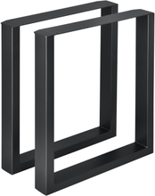 [en.casa]® Bordsben set 2-60x72cm-metall-med halkskydd-svart