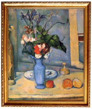 Steve Art Gallery Med ram The Blue Vase,Paul Cezanne,61x51cm