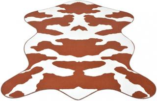 Formet teppe brunt kumønster - 150x220 cm