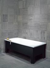 Svedbergs badkar, 160x70 cm, inkl. halvfront - Svart emalj