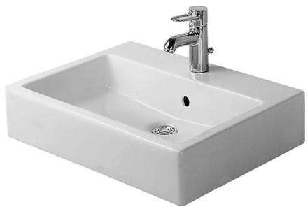 Duravit Vero Tvättställ 60x47 cm m/Kranhål m/Bräddavlopp