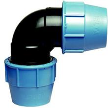 Plaströrskoppling Vinkelkoppling 90° PN10 25