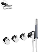 Vola 871R-081 duschblandare med tak/huvud- och handdusch - Rostfritt stål