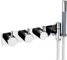 Vola 5474R duschblandare med termostat och handdusch - Krom