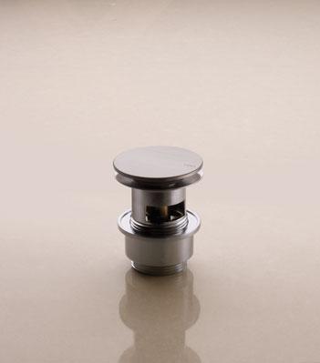 Vola A62 Push up bottenventil m/bräddavlopp - krom