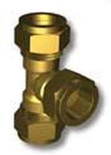Conex kompressionsvinkel T-rör 18 x 15 x 18 mm