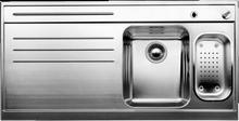 Blanco Axis 6S-M Diskbänk 120x62 cm m/Korgventil Rostfritt stål