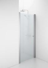 Ifö Space 1100 svängdörr m/knoppgrepp, frostat glas/matt alu profil