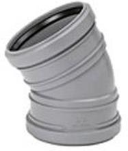 Avloppsböj 45° PP 110mm med 1 muff